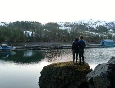 Main Bay, Prince William Sound Alaska where we worked at a salmon hatchery