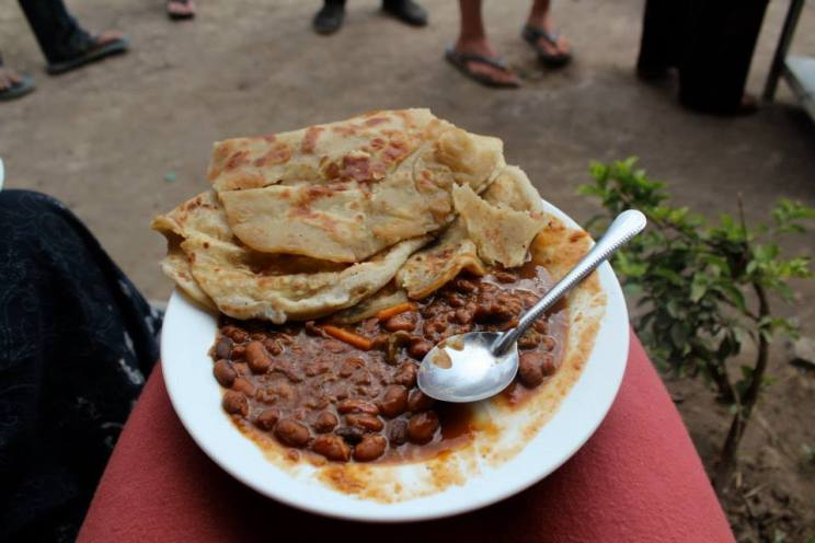 Chapati and beans!