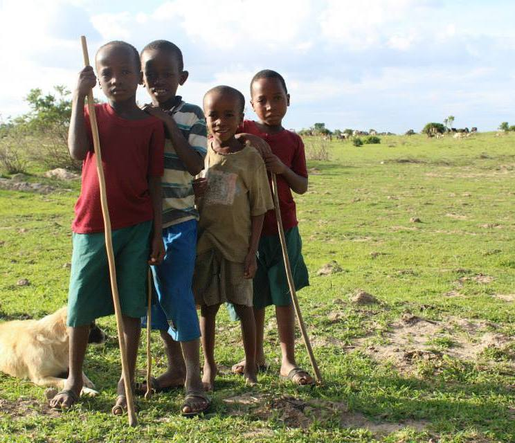 These kids were our guides to find a hippo that was terrorizing the village