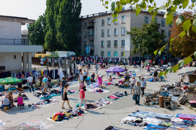 Moldova Chisinau Fleamarket at trainstation central